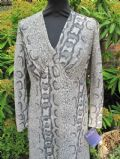 1970's Full length textured python skin print dress **SOLD**